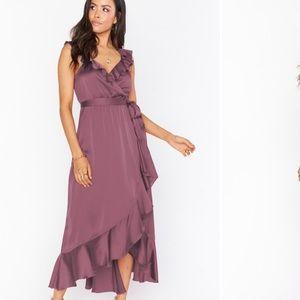Show Me Your MuMu Samantha Ruffle Wrap Dress Sz M